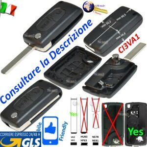 CHIAVE Telecomando GUSCIO CI3VA1 CE0536 VA2 2 TASTI per CITROEN BERLINGO PEUGEOT