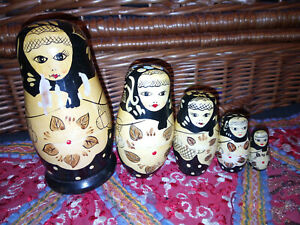 Old Vintage Hand Painted Russian Nesting Doll