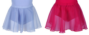 """Chiffon Skirts in Sky Blue or Plum Red   18""""   20""""   22"""""""