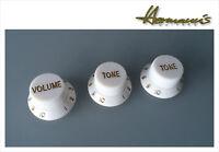 Poti Knob Set, 2 x Tone + 1x Volume für ST Gitarren in 4 Farben verfügbar