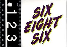 686 SNOWBOARDING STICKER Six Eight Six 3.5 in Square Snowboarding Decal