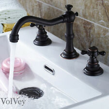 """6"""" Oil Rubbed Bronze Bathroom Faucet Widespread Three Holes/Two Handles Cold/Hot"""