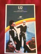 U2 Tutti i testi con Traduzione a fronte libro Italiano ARCANA 1991 book