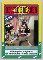 1986  WALTER PAYTON - Topps RECORD BREAKER Football Card - # 7 - CHICAGO BEARS