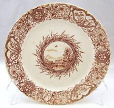 """Grindley Tunstall Aesthetic Transferware IDEAL Luncheon Plate(s) 9 1/4"""" CRAZED"""