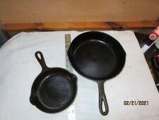 VINTAGE CAST IRON SKILLETS  MADE IN U.S.A.  (2pc)