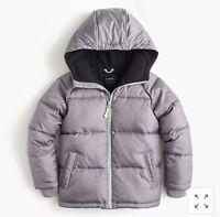 NEW J.CREW CREWCUTS Puffer Jacket Retro Coat Slate Gray Toddler Boy 3T primaloft