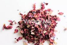 dried flower petal pink red blue lavender biodegradable confetti pot pourri soap