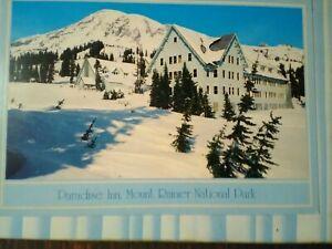VINTAGE POST CARD PARADISE INN MOUNT RAINIER NATIONAL PARK WASHINGTON