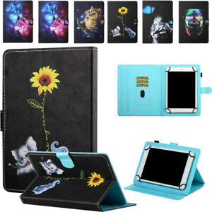 """Universal PU Leather Stand Flip Folio Case For 7"""" 8"""" 10"""" inch Apple Tablet Cover"""
