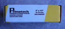 "Primatech Hardwood Flooring Staples 15 1/2 gage 2"" x 1/2"" Galvanized Box 1000"