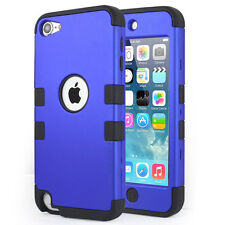Blue iPod Touch 5th & 6th Gen Case - Hybrid Rugged High Impact Armor Case Cover