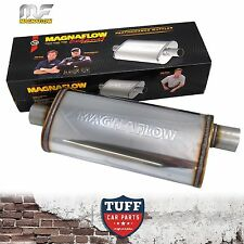 "Magnaflow Stainless Steel 2.5"" Muffler Oval 18"" x 8"" x 5"" 14256 Center Offset"