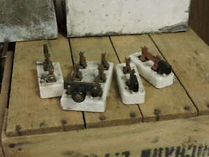 Lot of 4 Antique Porcelain Knife Switch Blades, Electrical