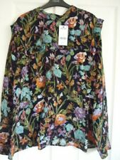 NEXT MULTI FLORAL RUFFLE TRIM LONG SLEEVE BLOUSE TOP UK 20, EUR 48, US 16. BNWT