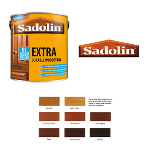 SADOLIN EXTRA DURABLE EXTERIOR SOFTWOOD HARDWOOD WOODSTAIN - 500ml / 1l  / 2.5l