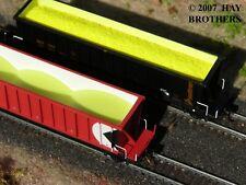 Hay Brothers Sulfur (Sulphur) Load - Fits N Scale Intermountain Bathtub Gondolas