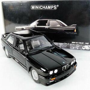 Minichamps 1/18 BMW M3 STREET 1987 Black Color Diecast Model w/Original Box