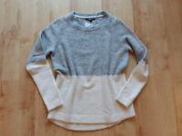 Tommy Hilfiger Strick Pullover Wolle Gr. S / M grau beige kuschelig neu