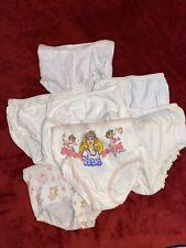 Vintage Toddler Girl Cotton Panties Barbie Care Bears Sz 4 Lot Of 9