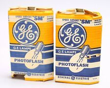 LOT OF 16X GE PHOTOFLASH SPEED MIDGET SM FLASH BULBS