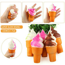 1PCS Ice Cream Squishy Slow Rising Stretch Charm Key Bag Phone Straps Toy Gift