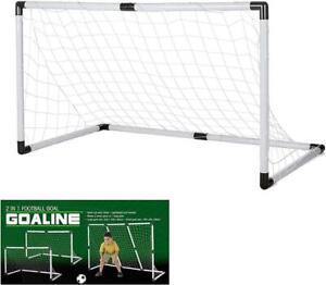 Football Goal Set Transformable Goal Make 1 big or 2 Small Goals + Ball and Pump