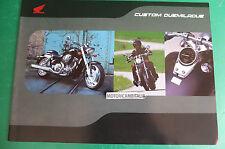 HONDA CUSTOM VTX SHADOW BLACK WINDOW VT600 PUBBLICITA DEPLIANT BROCHURE CATALOG
