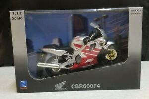New Ray 1:12 Road Rider Honda CBR600 F4 Silver & Red Motorcycle Model NEW IN BOX