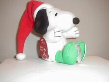 "Snoopy Christmas Hallmark Plush Peanuts Ice Skating Soft New 5"""