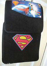 MARVEL SUPERMAN EMBLEM CAR FLOOR MATS~4 PIECE SET~NEW~CARPET PROTECTOR 4 VEHICLE