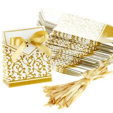 100x Bomboniere Scatole Portaconfetti Matrimonio Oro Anni cerimonia festa regalo