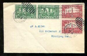 p453 - Canada 1929 FDC Cover. Confederation Pairs. Winnipeg