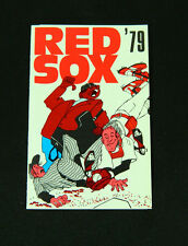 1979 Boston Red Sox Boston Globe Baseball Pocket Schedule 112388S