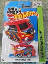 Hot Wheels 2014 #201/250 VW VOLKSWAGEN KOOL KOMBI Rouge Longue Carte