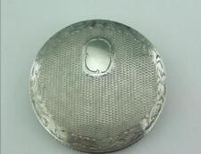 ANTIQUE SOLID SILVER PORTUGESE POWDER COMPACT