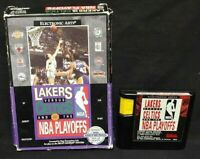 Lakers vs. Celtics NBA  - Sega Genesis Working Box, Cover Art Game Tested Works