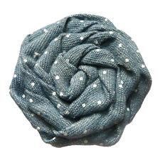 pince barrette cheveux femme Fleur plate ronde rétro jean bleu pois polka blanc