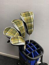 Golf Headcover 4 Pc Set 1x Driver, 2 X Fairway, 1 X Hybrid Brand New Tartan