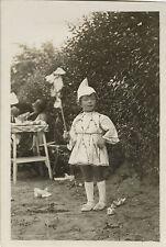 PHOTO ANCIENNE - VINTAGE SNAPSHOT - ENFANT DÉGUISEMENT BONNET DRÔLE - DISGUISE