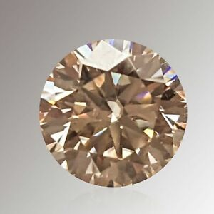 0.95CT 6MM VS1 ROUND UNTREAT OFF WHITE LAB CERTIFIED LOOSE NATURAL DIAMOND
