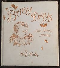 Vintage Baby Days Our Baby's History Amy Neally Ida Waugh 6 chromolithographs