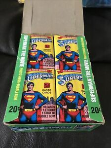 1978 Topps Superman The Movie Trading Cards Full Wax Box 36 Packs NOS
