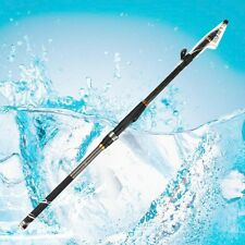 5.4M Portable Carbon Fiber Telescopic Spinning Casting Poles Fishing Rods New JX