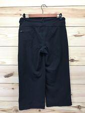 Lululemon Womens Yoga Pants Small/Medium Stretch Black Capri Pocket Wide Leg