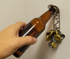 Magna Catch - Wall Mounted Bottle Opener with Magnetic Cap Catcher, Mech Design