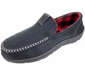 Signature by Levi's Men's Black Venetian Moccasin Slip-on Slippers Shoes: S-XL