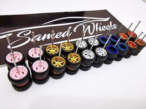 10 set MIX 6 & 4 spoke premium rubber wheels for HW JDM 1:64 cars #54