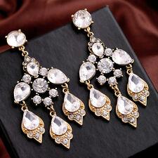 Boucles d`Oreilles Clous Art Deco Baroque Chandelier Grosse Fringe Vintage XX 6