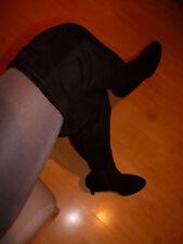 SCHWARZE Overkneestiefel, 72cm lang, Catwalk Stiefel, XXL Overknees, Gr. 44!! !